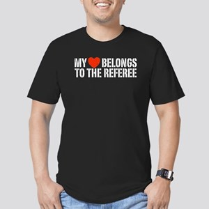 My Heart Belongs To The Referee Men's Fitted T-Shi