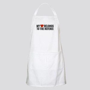 My Heart Belongs To The Referee Apron