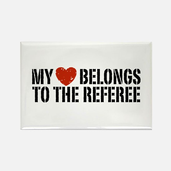 My Heart Belongs To The Referee Rectangle Magnet