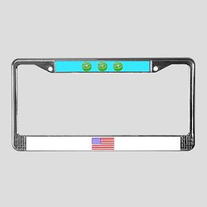 Dad Golf Balls American Flag License Plate Frame
