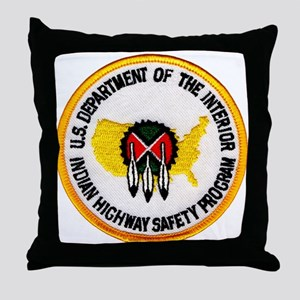 Indian Highway Safety Program Throw Pillow