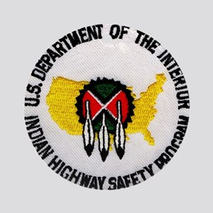 Indian Highway Safety Program Ornament (Round)