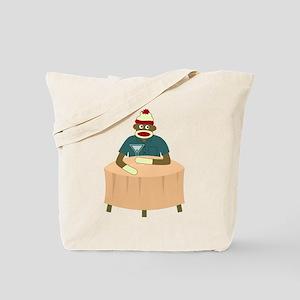 Sock Monkey Martini Table Tote Bag