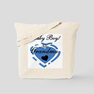 Baby Boy New Grandma Tote Bag