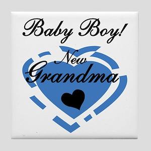 Baby Boy New Grandma Tile Coaster