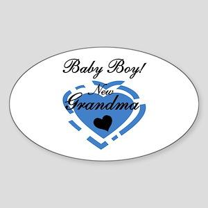 Baby Boy New Grandma Sticker (Oval)