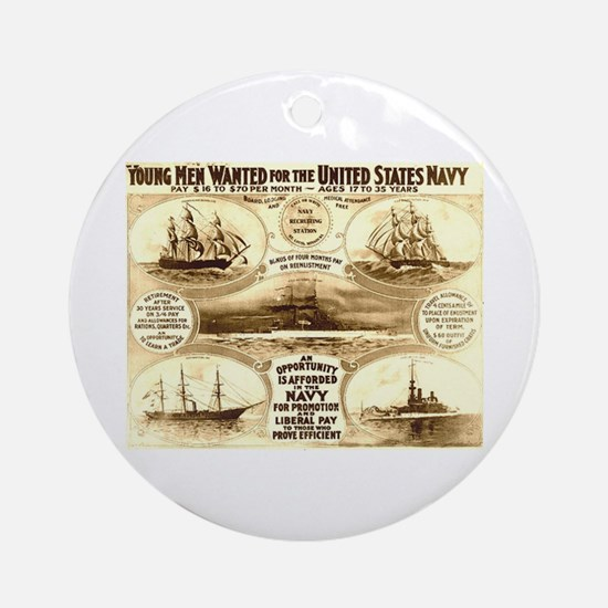 Young Men Wanted Ornament (Round)