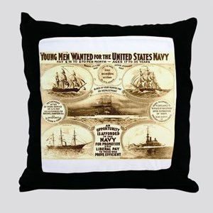 Young Men Wanted Throw Pillow