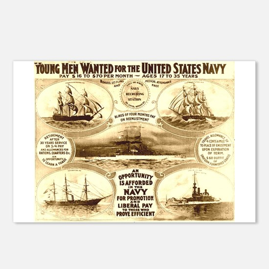 Young Men Wanted Postcards (Package of 8)