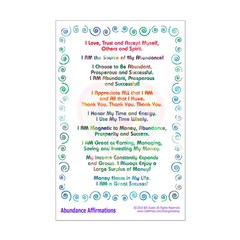 Abundance Affirmations Print