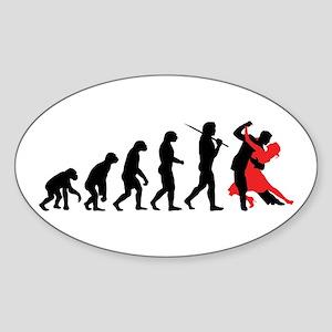 Dancing Sticker (Oval)