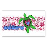 ILY Aloha Hawaii Turtle Sticker (Rectangle 10 pk)