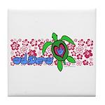 ILY Aloha Hawaii Turtle Tile Coaster