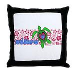 ILY Aloha Hawaii Turtle Throw Pillow