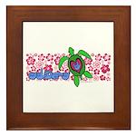 ILY Aloha Hawaii Turtle Framed Tile