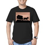 Wagon Train Men's Fitted T-Shirt (dark)