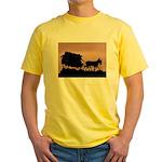 Wagon Train Yellow T-Shirt