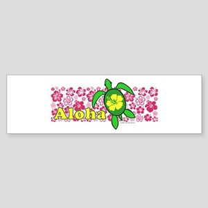 Aloha Hawaii Turtle Sticker (Bumper)