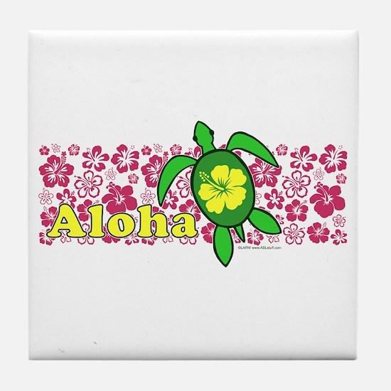 Aloha Hawaii Turtle Tile Coaster