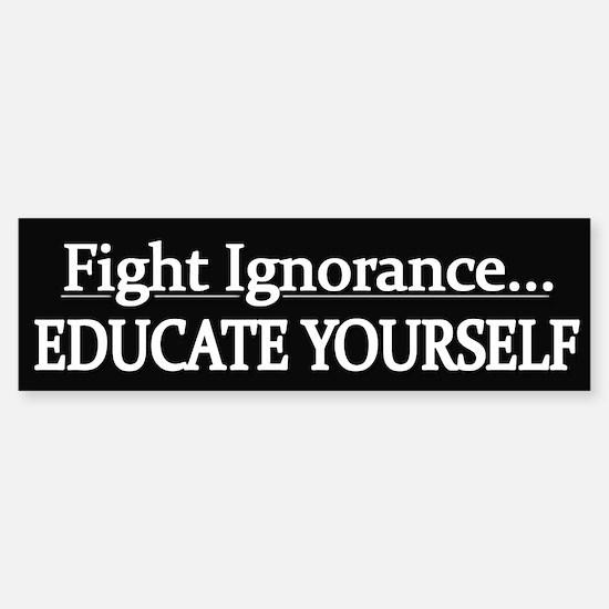 Educate Yourself - Bumper Bumper Sticker