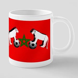 Moroccan Football Lions 20 oz Ceramic Mega Mug