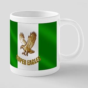 Nigerian Eagle Flag 20 oz Ceramic Mega Mug