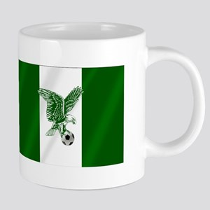 Nigerian Football Flag 20 oz Ceramic Mega Mug