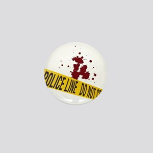 Police line with blood spatte Mini Button
