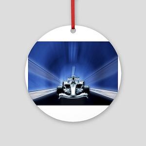 Speedy Blue F1 Ornament (Round)