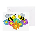 Bees & Flowers Greeting Card