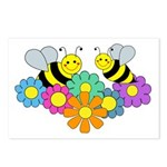 Bees & Flowers Postcards (Package of 8)