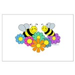 Bees & Flowers Large Poster