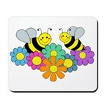 Bees & Flowers Mousepad
