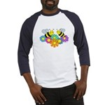 Bees & Flowers Baseball Jersey