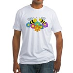 Bees & Flowers Fitted T-Shirt