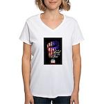 LAND OF THE FREE Women's V-Neck T-Shirt