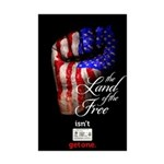 LAND OF THE FREE Mini Poster Print