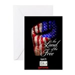 LAND OF THE FREE Greeting Cards (Pk of 10)