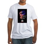 LAND OF THE FREE Fitted T-Shirt
