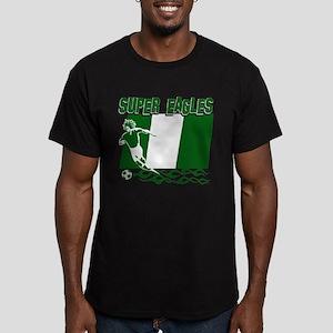 Super Eagles of Nigeria Men's Fitted T-Shirt (dark