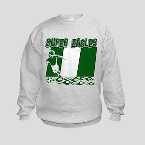 Super Eagles of Nigeria Kids Sweatshirt