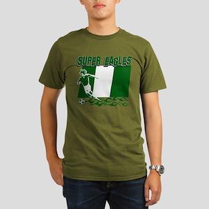 Super Eagles of Nigeria Organic Men's T-Shirt (dar