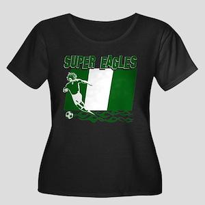 Super Eagles of Nigeria Women's Plus Size Scoop Ne
