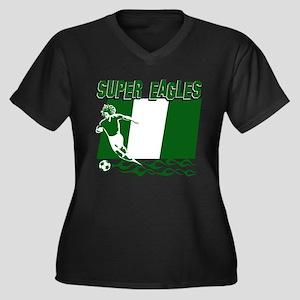 Super Eagles of Nigeria Women's Plus Size V-Neck D