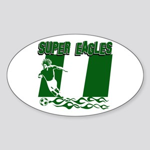 Super Eagles of Nigeria Sticker (Oval)