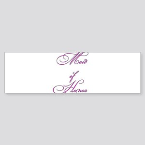 Maid of Honor Sticker (Bumper)