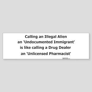 Undocumented Immigrant Sticker (Bumper)