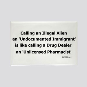 Undocumented Immigrant Rectangle Magnet