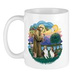 St Francis (Wff) - Two Shelties Mug