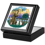 St Francis (Wff) - Two Shelties Keepsake Box